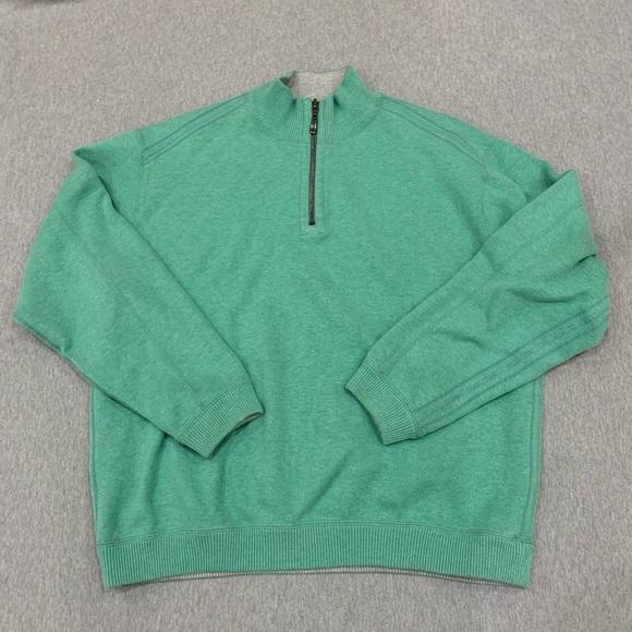 Tommy Bahama Other - Tommy Bahama medium green half zip sweater